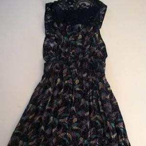 free people dress size xs blue lace short mini